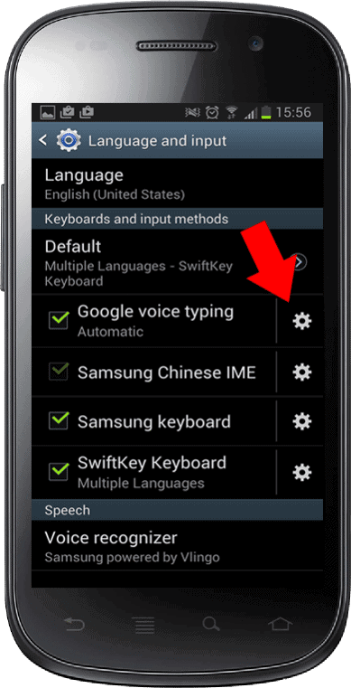 android phone language and input menu
