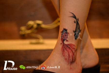 Written chinese for Goldfish tattoo meaning