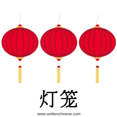 Written chinese chinese new year greetings lanterns m4hsunfo
